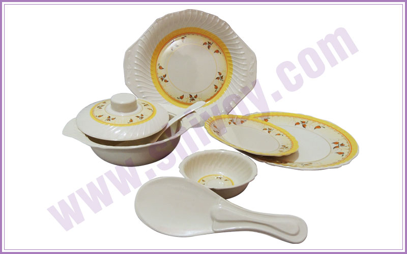 melamine dinner sets - melamine catering crockery - plastic crockery - home gift crockery - plastic catering products manufacturers exporters in india punjab ludhiana